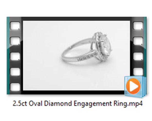 2.5ct Oval Diamond Ring